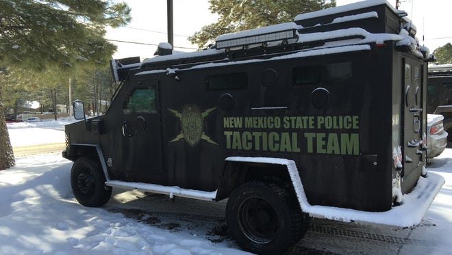 A state police tactical team was one of the units called in by Lincoln County sheriff's deputies to end a standoff last week with an armed man on U.S. Highway 380.