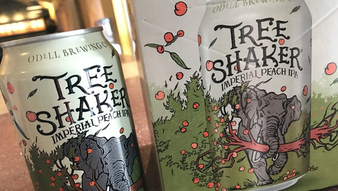 Odell Brewing's popular seasonal peach-flavored IPA Tree Shaker is back on shelves. This year's release is exclusively in cans.