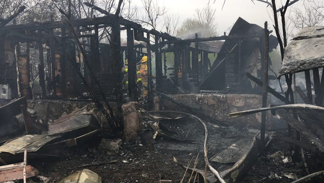 Mountain Home firefighters were joined by personnel from Midway and Clarkridge shortly after 1 p.m. Sunday at 2017 Baxter County Road 25 for a house fire. The blaze began as a controlled burn. A wooden home and a mobile home were fully involved when firefighters arrived, according to Gary Pyszka, fire inspector for MH Fire Department. No one was injured as a result of the fire, according to Pyszka who said the owners of the two homes live in adjacent home. The two homes that burned were not currently being lived in, Pyszka said.