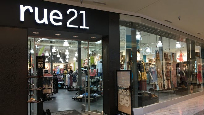 Rue21 will close 8 of its 24 Wisconsin stores. The Fox River Mall branch will remain open.