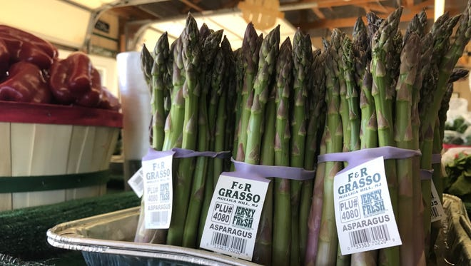 Asparagus season kicks off, with Grasso Farms in Harrison Township cutting the first batch in late April.