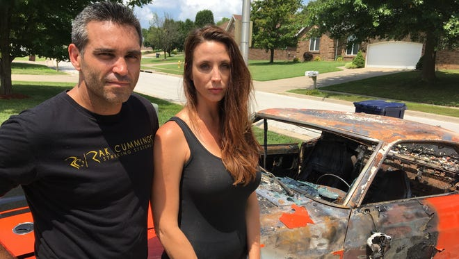 Brett and Tonia Welcome say their 7-year-old disabled son will be devastated when he learns the family's classic 1970 Mustang was destroyed by arson.