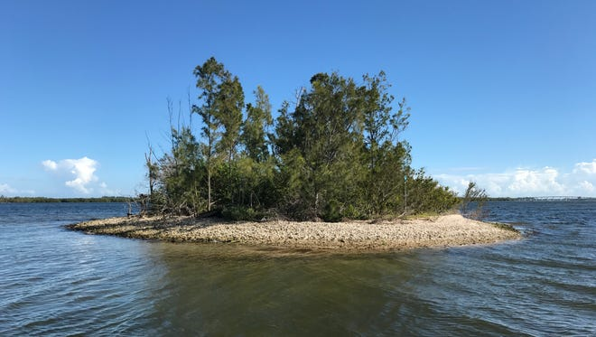 """One of the """"Six Sisters"""" spoil islands north of the Wabasso Bridge in the Indian River Lagoon."""