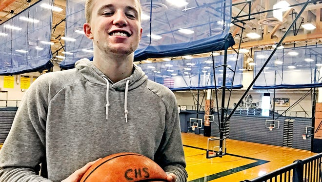 Michigan State basketball recruit Thomas Kithier has been ruled ineligible for the 2017-18 season by the MHSAA. But that doesn't mean the Clarkston senior isn't helping lead the Wolves to their second straight Class A title run.