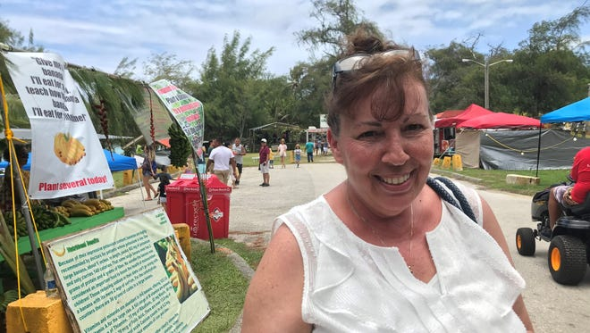 Sharlene Gilbert, 59, a resident of Florida, was at Ipan Beach Park to celebrate the 9th Annual Talofofo Banana Festival.