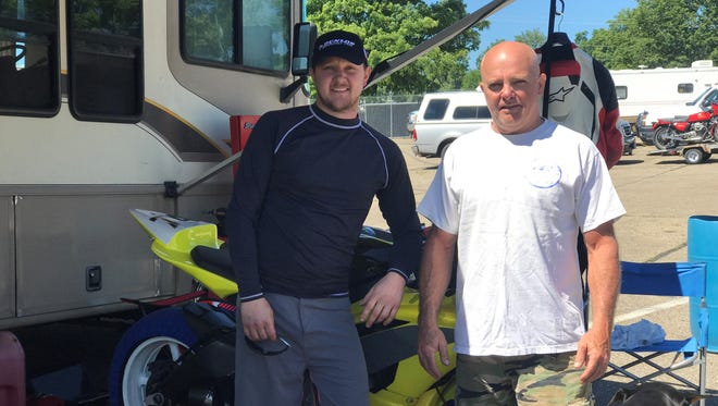 Matt (left) and Scott (right) Evans are a father-son racing team located in Mansfield.