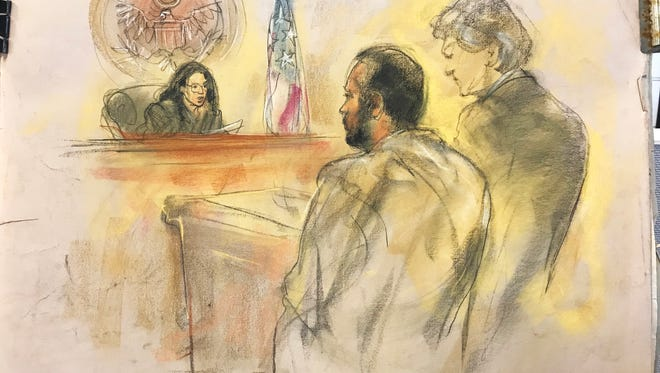Ibraheem Musaibli of Dearborn is arraigned in federal court Wednesday. He was held without bond.