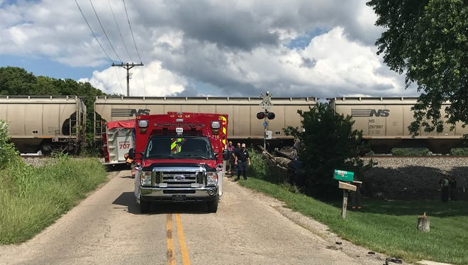 A Chillicothe man was killed after a train hit his truck at a crossing at Delano Road Friday afternoon.