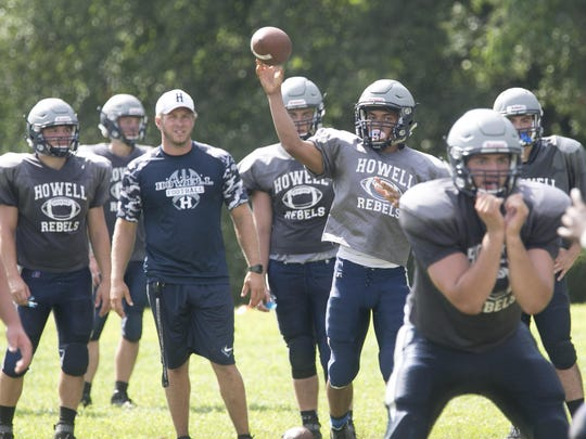 Howell quarterback Eddie Morales throws a pass during