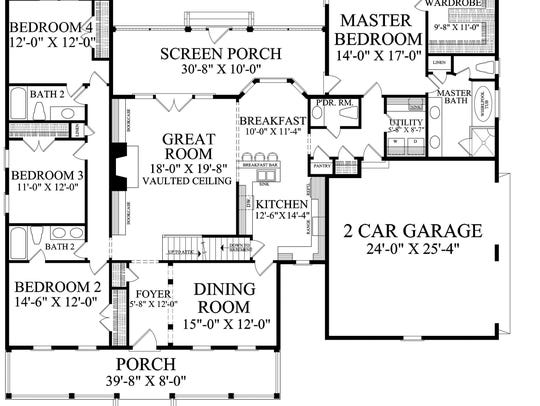 A large bonus room makes it easy to expand upstairs