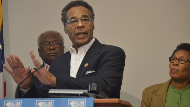 """Rep. Emanuel Cleaver, D-Mo., and other members of the Congressional Black Caucus will travel across the country, including Louisiana, to boost black voter turnout. The caucus is kicking off """"Freedom Sundays,"""" asking religious leaders to urge blacks to register and vote."""