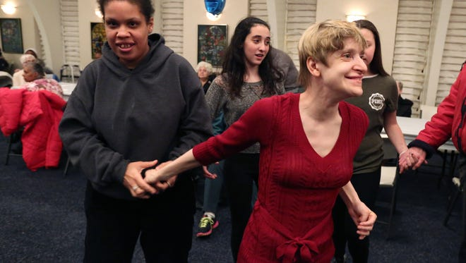 A Passover party for people with special needs at Temple Beth Sholom in New City in April 2016. People attended from ARC, Camp Venture, HVDDSO and Jawonio.