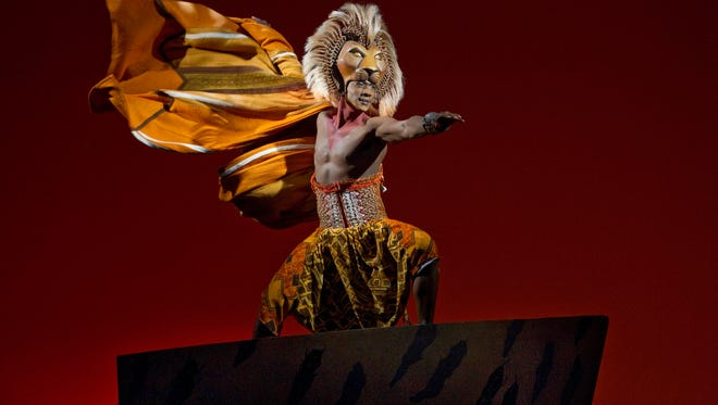"""Jelani Remy as Simba in """"The Lion King."""""""