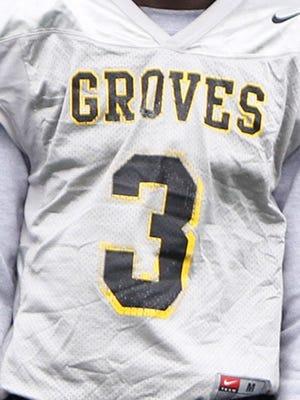 A Birmingham Groves football jersey