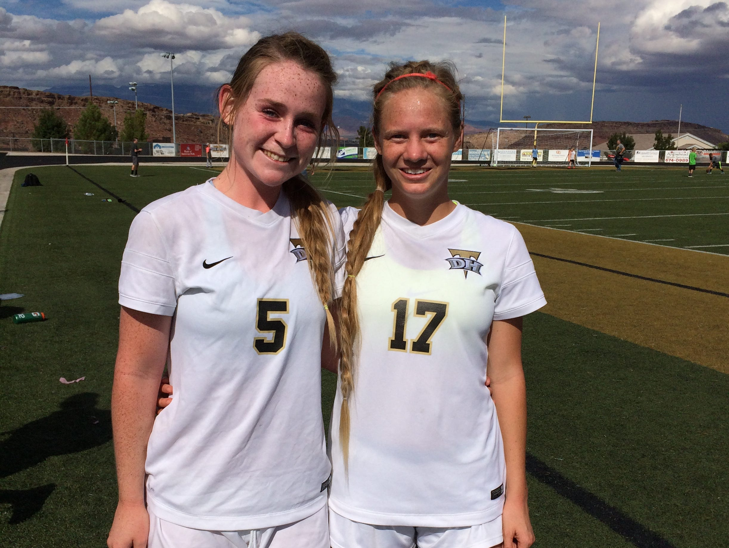 Desert Hills' Brenna Owen and Madi Hansen each scored a goal in a 4-1 win over Morgan on Saturday. The Thunder will face Logan in the 3A semis on Friday.