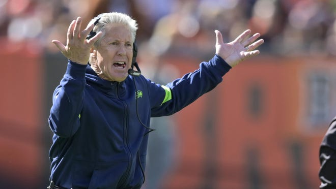Seattle's Pete Carroll is oldest head coach in the NFL at age 69.
