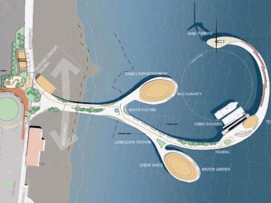 A Long Branch Pier Charrette rendering from 2010.