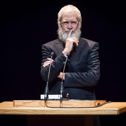 David Letterman returned to Ball State's campus Monday