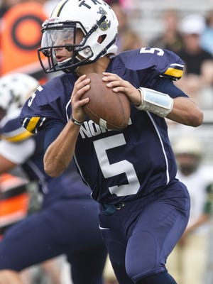 Toms River North quarterback Mike Husni gets the mid-season award for top offensive player.