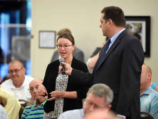 Erin Johnson asks Rep. Ryan Costello about his commitment