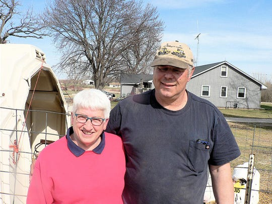 Parents Cheryl and Keven Schultz began farming in 1979