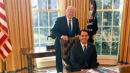Gov. Scott Walker visited President Donald Trump over