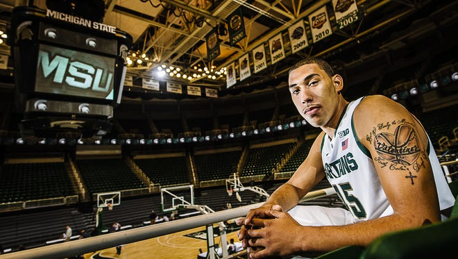 Denzel Valentine on Wednesday became MSU's third recipient of the Big Ten's Jesse Owens Male Athlete of the Year award, joining Draymond Green and Ryan Miller as winners.