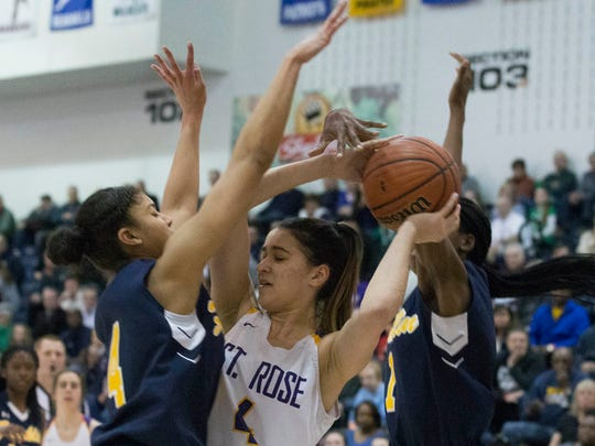 Franklin's Camille Gray puts pressure on St. Rose's