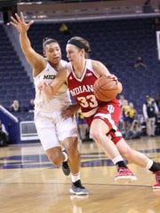 Amanda Cahill helped Indiana earn a WNIT championship as a senior.
