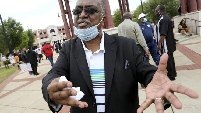 Charles Steele Jr., president of the Southern Christian Leadership Conference, was the keynote speaker in Tuscaloosa Wednesday, June 3, 2020, as marchers and speakers expressed themselves during the SCLC/NAACP Youth Coalition March.