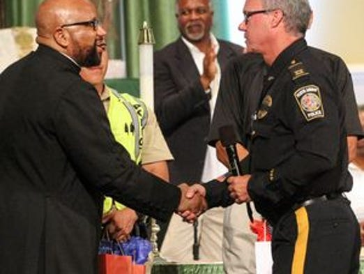 Police and other law enforcement officials were invited