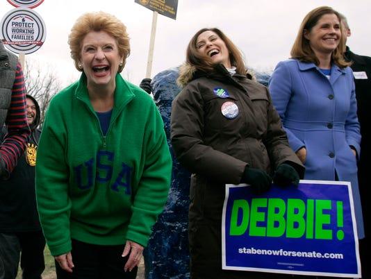 Debbie Stabenow, Gretchen Whitmer, Bridget Mary McCormack