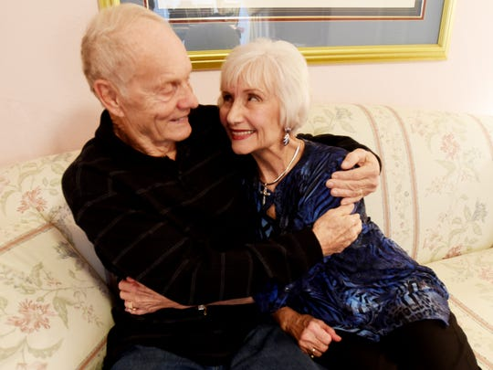 Grady and Delores Hooper will celebrate their 60th wedding anniversary on Valentines Day.