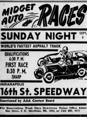 1948 Indianapolis Star ad for 16th St. Speedway