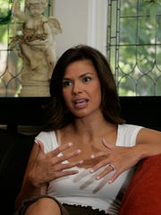 Johnson speaks to a reporter during an October 2007 interview for (201) Magazine at her former home in Ridgewood.