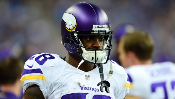 A 2-year-old son of Minnesota Vikings running back Adrian Peterson died on Friday in a Sioux Falls, S.D., hospital, the victim of alleged abuse by a man dating the boy's mother, police confirmed.