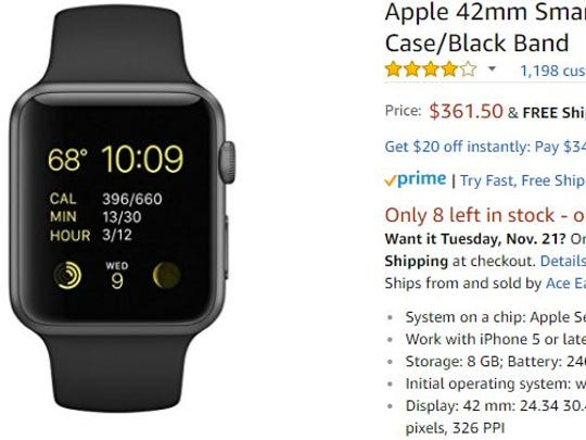 An Apple Watch on Amazon.
