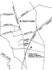 Map shows Reich Farm location.