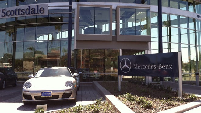 Mercedes-Benz of Scottsdale upsetting some residents of nearby Safari Drive condominium complex.