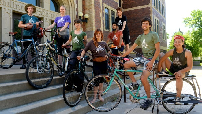 The Agile Rascals, a bicycling theater troupe from California, is in Great Falls writing and rehearsing a play based on their experiences as they tour Montana on their bicycles.