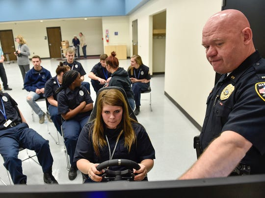Lt. BJ Gruber from the Marion Police Department prepares