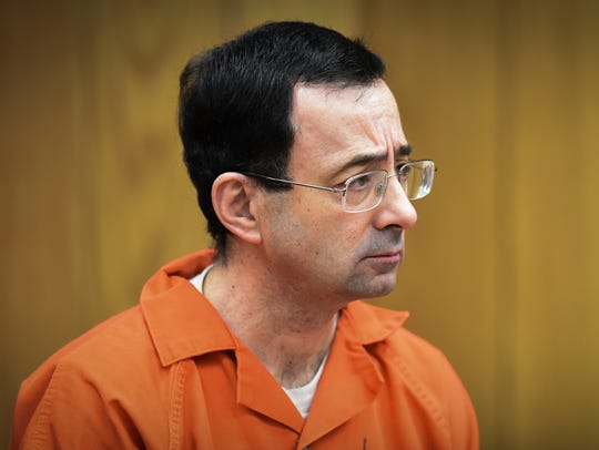 There was little reaction in Larry Nassar's face as