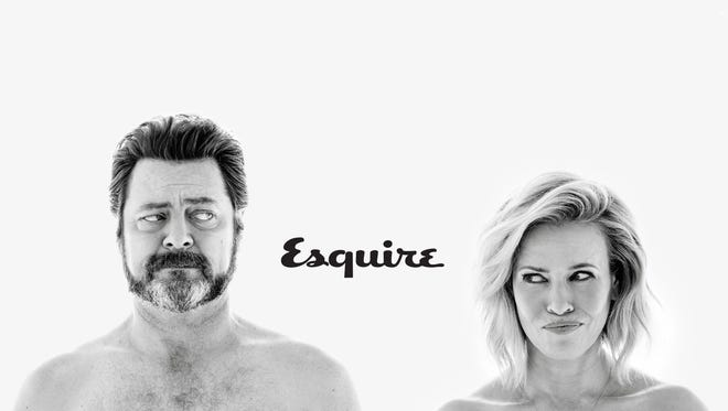 Chelsea Handler and Nick Offerman in April 'Esquire.'