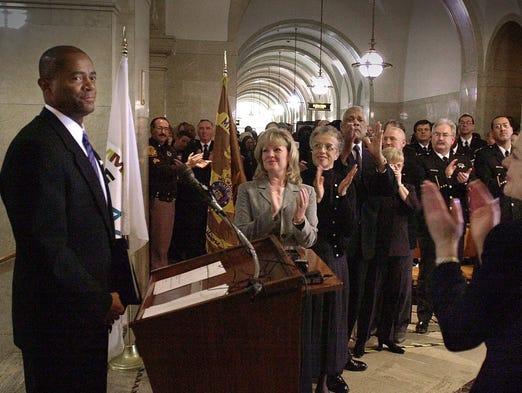 Newly sworn-in Milwaukee County Sheriff David A. Clarke