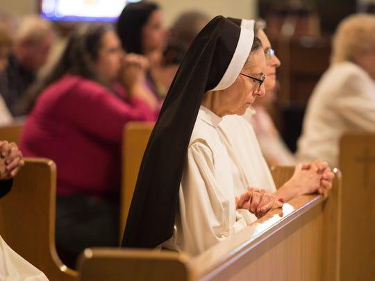 The nuns at Caterina Benincasa Dominican Monastery attended mass at Holy Spirit Church Saturday.