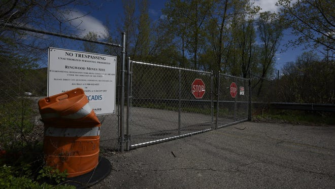 The gates to the Ford Superfund site in Upper Ringwood.