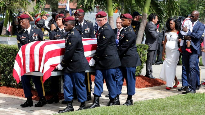 Funeral of Sgt. La David Johnson on Oct. 21, 2017, in Hollywood, Fla.