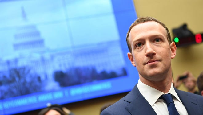 Apr 11, 2018; Washington, DC, USA; Facebook CEO Mark Zuckerberg testifies before the House Energy and Commerce Committee regarding the company's use and protection of user data in Washington.