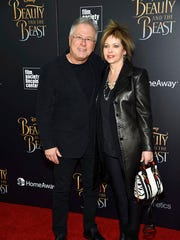 """Composer Alan Menken and his wife Janis Menken attend a special screening of Disney's """"Beauty and the Beast"""" at Alice Tully Hall on Monday, March 13, 2017, in New York."""