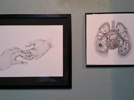 THIRD_Joanna Ferrin, Traces (left) Efflorescence (right)
